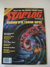 Starlog Magazine #31 February 1980, Disney'S The Black Hole, Empire Strikes Back