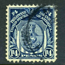 US Possessions Philippines Scott 273 4p Arms 1918 Issue P12 S/L Wmk Used 9D2218