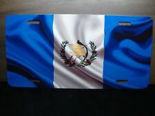 GUATEMALA WAVING FLAG NOVELTY LICENSE PLATE  Pabellón Nacional  Azuliblanco