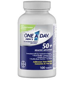 Bayer une par Jour Hommes 50 Plus Santé Multi Vitamine Comprimés 100 Nombre exp