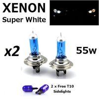 Lamparas H7 55w/12v, halogenas, luz blanca, caja original, + T10 de regalo