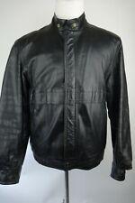 Vintage Franco Canadian Leather Jacket Men Size Large 42 Made In Canada
