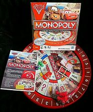 DISNEY CARS 2 MONOPOLY BOARD GAME by Hasbro - CHECKED & 100% COMPLETE