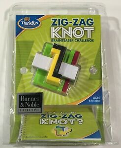 ThinkFun Zig Zag Knot Brainteaser Challenge Take-Apart Puzzle - New Sealed