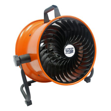 Mini Floor Fan 10 in. Turbo Steel Shroud Nonskid Feet Garage Shop Studio Barn
