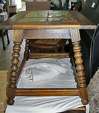 Fine Antique All Original Unretouched 1920s Hispano Moresque Colorful Tile Table