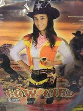VESTITO CARNEVALE ADULTO COW GIRL  taglia unica   cod.7766