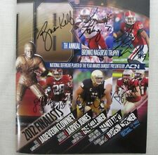 2012 Signed Bronko Nagurski Program Brian Kelly Manti TE'O Jones Jadevon Clowney