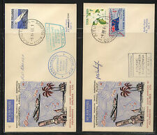 Cook Islands  2  experimental air mail covers          MS0812