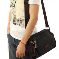 Men's Canvas Vintage Flap Travel Cross Pack Messenger Shoulder Bag Casual Pouch