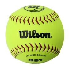 "Wilson WTA9117 Softball Ball Hard Type Yellow 12"" Frequency Matched Leather 4pc"