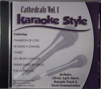 Cathedrals Volume 1 Christian Karaoke Style NEW CD+G Daywind 6 Songs