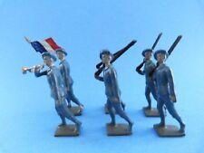 Rares soldats de plomb creux CBG MIGNOT - 6 chasseurs alpins au défilé