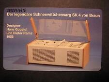 Telefonkarte BRAUN SK4 Rams Gugelot Design +Design rar selten 1993 6 DM antik