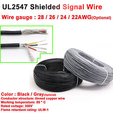 Flexible 2/3/4 Multicore Cable Shielded Wire 24-28AWG Audio Signal Auto Data Car