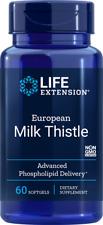 Life Extension European Milk Thistle, 60 gels   Healthy Liver   01922