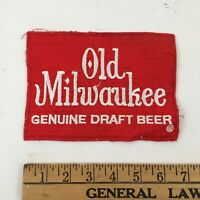 """Vintage Old Milwaukee Genuine Draft Beer Patch - Large - 7"""" x 5""""  FAST SHIPPING"""