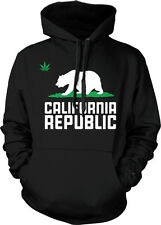 California Republic - Cali CA Cali Bear Weed Hoodie Pullover