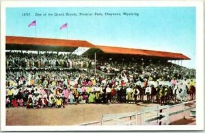 """1920s Cheyenne, Wyoming Postcard """"One of the Grand Stands, Frontier Park"""" HHT"""