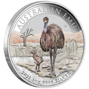 Australien - 1 Dollar 2021 - Emu - ANDA Coin Show Special - 1 Oz Silber ST Farbe