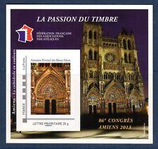 TIMBRE BLOC 86° CONGRES  FFAP N° 7  PARIS  2013  AMIENS