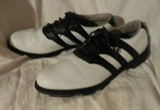 ADIDAS GOLF SHOES - Men's Size13 M White Leather Uppers- XLT Cond.