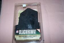 Blackhawk Nylon Ankle Holster Left Size 10 Black Fits Small Autos (.22-.25 cal.)
