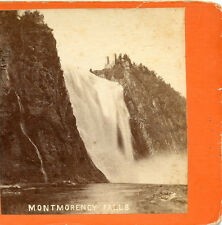 L. P. VALLEY QUEBEC CANADA STEREOVIEW MONTMORENCY FALLS