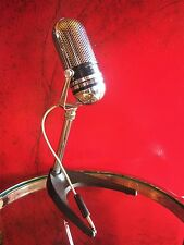 Vintage 1960's Lafayette 99-4511 crystal microphone pill Japanese w Atlas stand