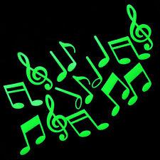 Nota musicale a parete 3D Glow In The Dark Sticker Camera da letto Wall