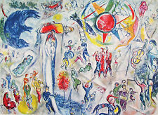 CHAGALL - OVERVIEW OF LIFE - LITHOGRAPH - 1965 - FREE SHIPPING IN THE US !!!
