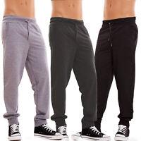 Pantaloni UOMO fitness sportivi palestra tuta felpati sport misto cotone K7033