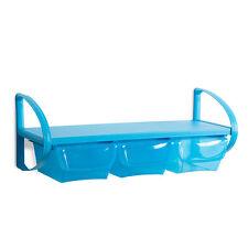 Regal für Kinder Wandregal Kunststoffregal Bücherregal 3xaufbewahrungsbox blau