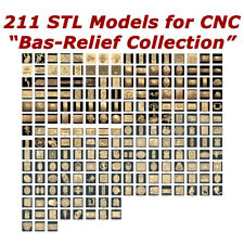 "NEW 211 3d STL Models - ""Bas-Relief Collection"" for CNC relief artcam 3d printer"