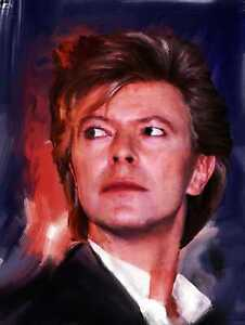 David Bowie Original Painting portrait in acrylic by Brian Tones