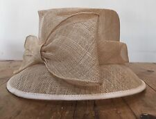 PRELOVED FORMAL STYLE SMALL BRIM  FORMED NATURAL 'STRAW' M&S HAT