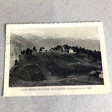 T) Postcard Large Format gualdera Ski Sondrio 1947
