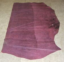 (LFE10540) Hide of Red Pink Printed Cow Leather Hide Skin