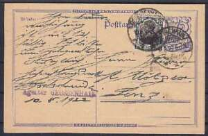 Dr Mi No. 104 C Rnd On P 146 Stationery From Grossenhain 1922, Tested Infla