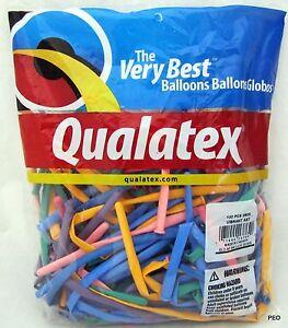 Qualatex Balloons Vibrant Assortment Animal Twist 100 count Size 260 Balloon
