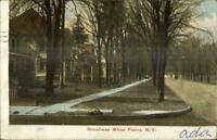 White Plains NY Broadway c1910 Postcard
