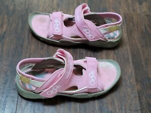 Girls Timberland Sandals Strap Sport Shoes Size 4 Pink White Gray