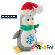 ANCOL MERRY CHRISTMAS PENGUIN SOFT SQUEAKY STUFFED DOG TOY, GREAT XMAS PRESENT