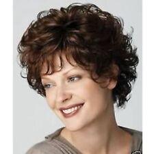 Fashion Women Short Dark Brown Wavy Curly Hair Lady Cosplay Daily Party Full Wig