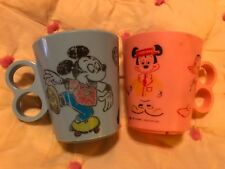 Walt Disney Productions 2X Eagle Plastic Cup Made in Usa Mickey/Donald #7 #8 Bid