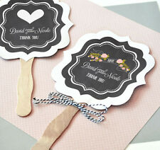 100 - Personalized Chalkboard Paddle Fans - Wedding & Party Favor