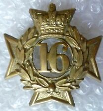 Badge- VICTORIAN Bedfordshire 16th Regiment of Foot Glengarry Badge QVC- ORG*