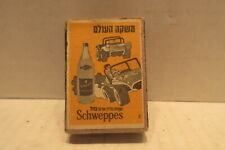 Vintage Schweppes Safety Matches Box with Advertisment in Hebrew