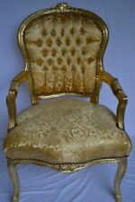 LOUIS XV ARM CHAIR FRENCH STYLE CHAIR VINTAGE FURNITURE GOLD ARMCHAIR