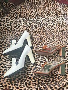 60's Vintage Designer Mod Shoes Unique 2 pair lot 6/ 6.5